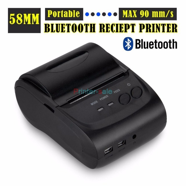 Бесплатная доставка POS5802DD Bluetooth Wireless Mobile 58 мм Мини Тепловая Чековый Принтер Портативный с SDK поддержка Android и IOS