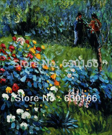 Famous Reproduction Oil Painting Garden In The Rue Cortot Montmartre Pierre Auguste Renoir's Canvas Art No Frame