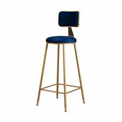 Nordic kute pręt z żelaza stołek nowoczesne minimalistyczne oparcie domu krzesło do jadalni wysoki stołek Cafe Bar stołek stołek barowy Dotomy