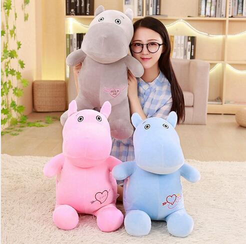 WYZHY Hippo Doll Pillow Plush Toy Sofa Decoration Send Friends and Children Gifts 70CM