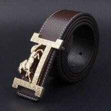 90d7d8f4113 Luxe cheval or boucle H ceintures pour hommes homme en cuir véritable  taille accessoire Style d