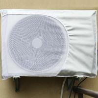 Ar condicionado ao ar livre capa de poliéster condicionador de ar à prova dwaterproof água limpeza capa de lavagem anti poeira anti neve|Capas p/ ar condicionado| |  -