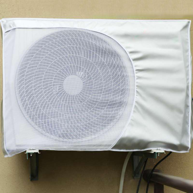 Outdoor Air Conditioning Cover Polyester Air Conditioner Waterproof Cleaning Cover Washing Anti-Dust Anti-Snow Cleaning Cover