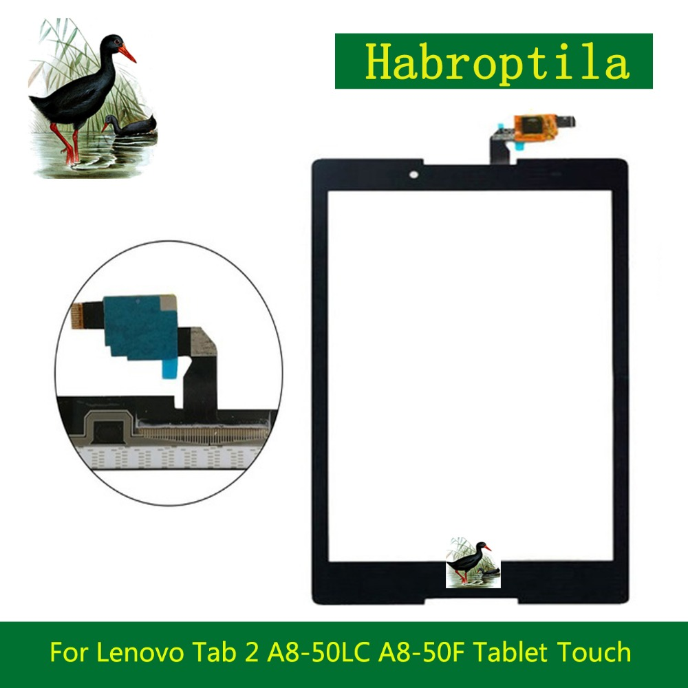 5Pcs/lot High Quality 8 For Lenovo Tab 2 A8-50LC A8-50F Tablet Touch Screen Digitizer Sensor Panel Front Glass Lens Black White high quality 10 1 for asus vivotab smart me400c me400 5268nb tablet touch screen digitizer sensor panel front glass lens black