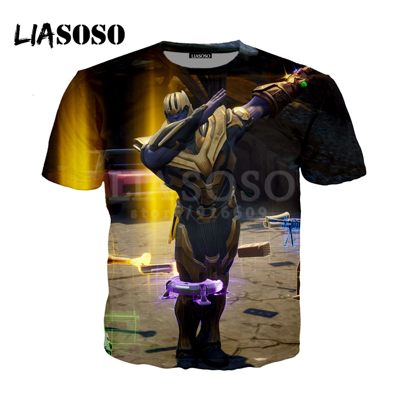 LIASOSO NEW Game Fortnite Avengers Infinity War Thanos 3D Print t shirt/Hoodie/Sweatshirt Unisex Funny Good Quality Tops G1184