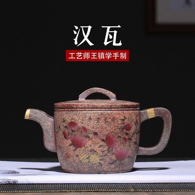 En gros Collection produit bois de chauffage complet à la main théière Yixing violet argile théière pour thé brassage oolong lait thé infuseur