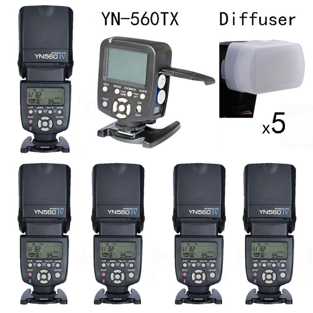 Yongnuo YN560TX LCD Wireless Flash Controller +5pcs YN560 IV Flash kit For Canon yongnuo yn560tx lcd wireless flash controller 3pcs yn560 iv flash kit for nikon