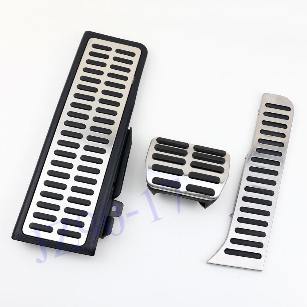 Aluminum Alloy Car Non Slip Floor Mat Carpet skidproof Pedal For Volkswagen