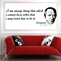 PICASSO Vinyl Wall Decal Sticker Retro Art Decor Bedroom Design Mural M H36cm X W109cm L