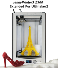 Free Shipping! 2016 Newest Assembled JennyPrinter 3 Z360 Extended For Ultimaker 2 UM2 High Precision Auto Leveling 3D Printer 2018 newest assembled jennyprinter4 z370 dual extruder high precision 3d printer extended for ultimaker 2 um2