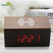 ФОТО led display digital clocks alarm clock temperature sounds control activated battery home decor table clocks despertador