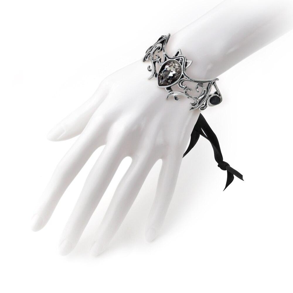 Punk Bats avec cristal vert cheville Bracelet bijoux bracelets pour homme femmes cadeau mode fête bracelets en métal bracelets