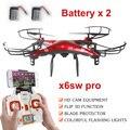 X6sw WIFI в Режиме Реального Времени Камера Вертолет RC Drone FPV Quadcopter Gopro Профессиональный Дрон с Камерой C4005 VS Сыма x5sw x5c
