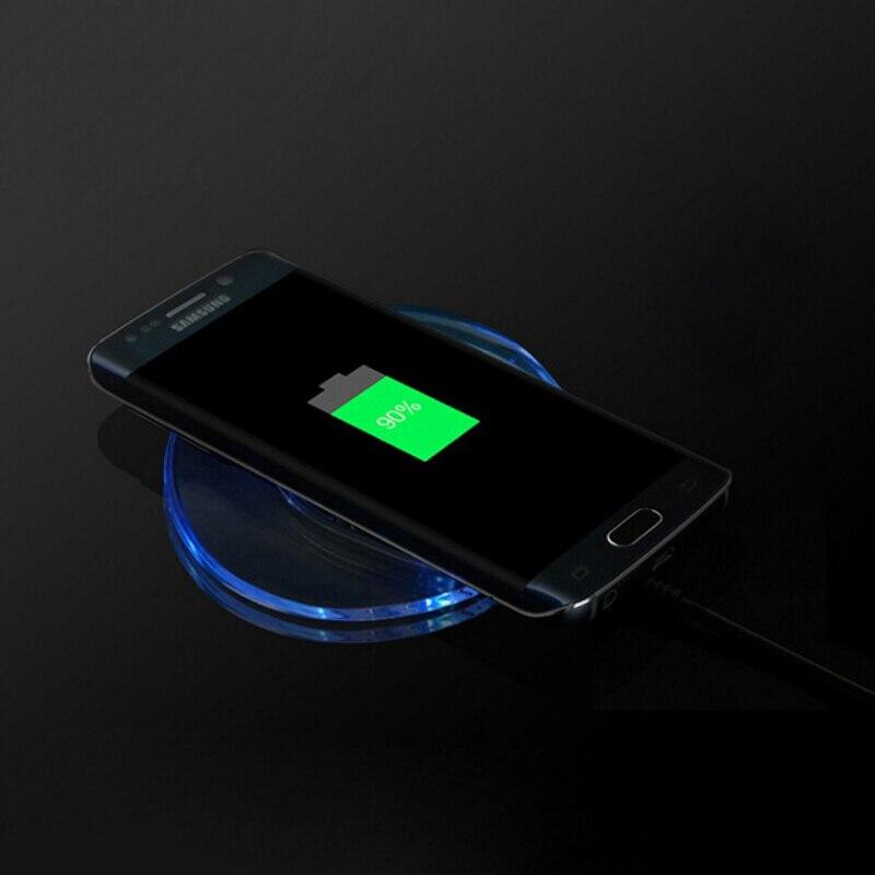 QI Беспроводной Зарядное устройство для <font><b>iPhone</b></font> 7 7 Plus Портативный Универсальный телефон Зарядка адаптер подставка для <font><b>iPhone</b></font> 7 6 6 S плюс 5 5S <font><b>SE</b></font> s приемн&#8230;