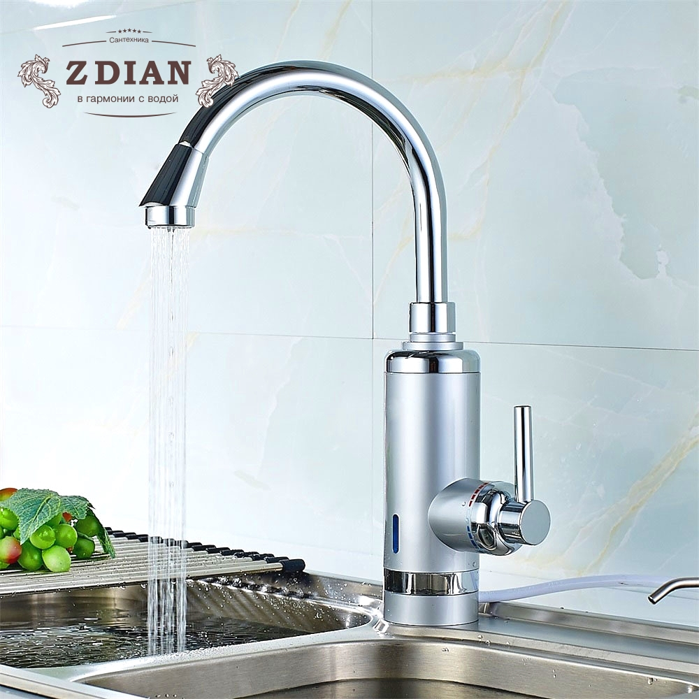 High Quality Tankless Faucet Water Heater Instant Electric Water Heater Tap Kitchen Electric Faucet Instant Hot 3 second heating gwai duel handle 3 second instant water heater 360 degree rotatable pipe instant hot water faucet fast heat water tap drs x30f6