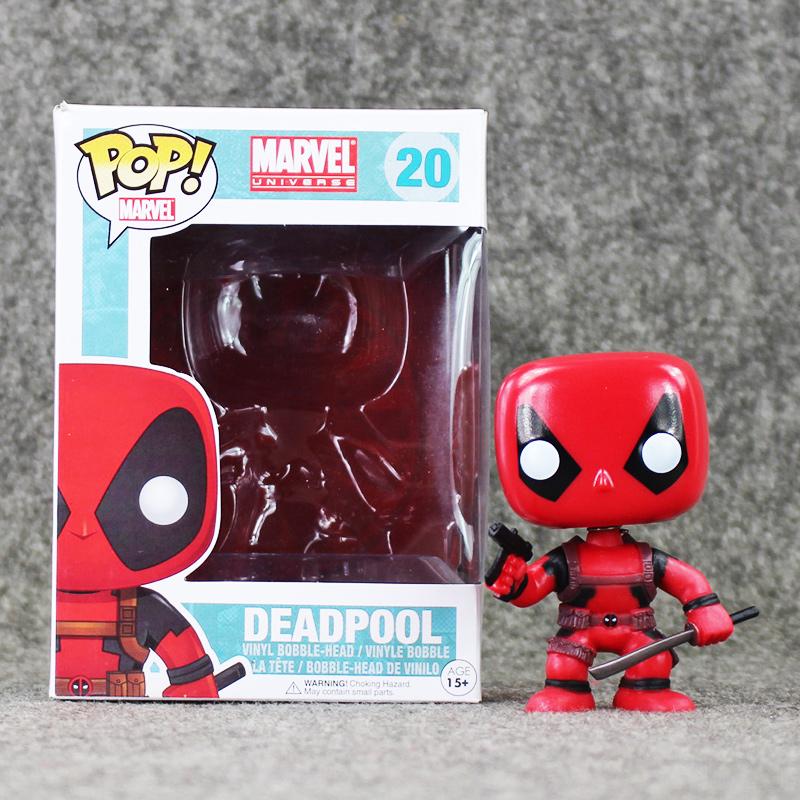 8.5cm Funko <font><b>Pop</b></font> <font><b>Deadpool</b></font> PVC <font><b>Figures</b></font> Action <font><b>Toys</b></font> <font><b>Wacky</b></font> <font><b>Wobbler</b></font> <font><b>Bobble</b></font> Head Collection Model Doll X-Men Kids Gifts