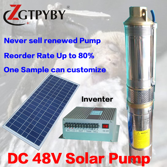 bomba solar exported to 58 countries solar kit solar submersible pump for irrigation