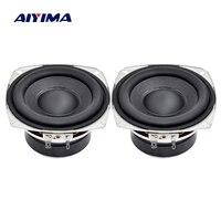 Aiyima 2PC 4Inch Audio Speaker 4ohm 6ohm 20W Full Range Speaker Subwoofer HIFI R Edge Bass