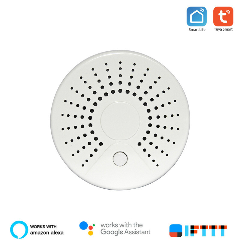 Tuya Graffiti Smart Home APP Notify WiFi Smoke Detector Smoke Alarm
