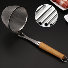 Strainer Kitchen Tools Fine Mesh Stainless Steel Home Use Sturdy Wooden Handle Colander Sifter Drain