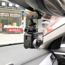Montura de espejo retrovisor para cámara de acción, accesorios para coche, para Gopro Hero 8 7 6 5 4 3 + SJCAM sj4000 Xiaomi yi Xiaoyi 4K EKEN Dji Osmo