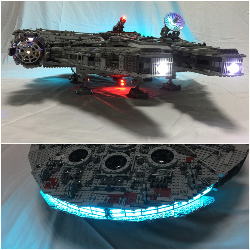Led light kit for 10179 and 05033 Ultimate Wars Millennium Model Falcon Blocks only include light