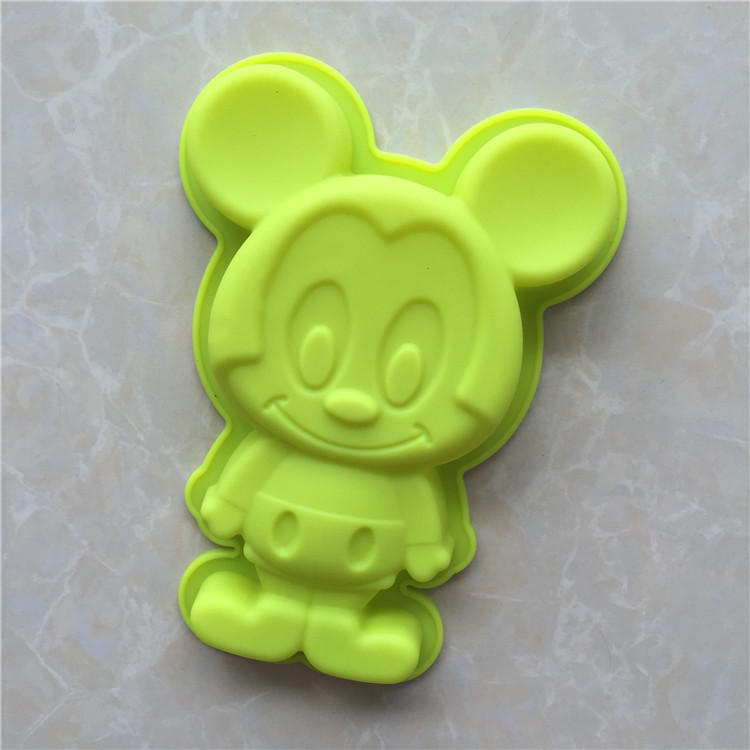 Yonghao Hot Diy Cartoon Mickey Mouse Cake Molds Silicone Mold Cake Decorating Tools Cake Mould Cute Kitchen Accessories M65 Cake Molds Home & Garden