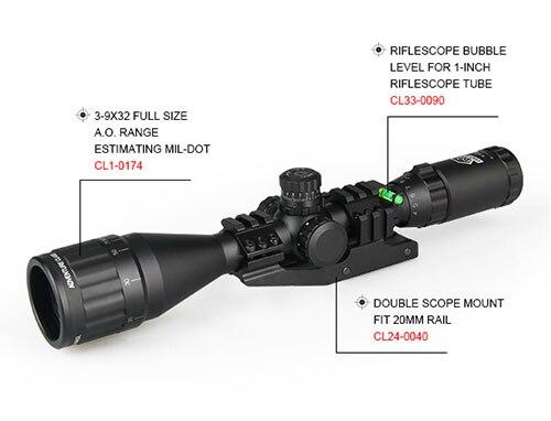 Akcesoria Airsoft wiatrówka pierścień pośredni Rifle Scope montuje 25.4mm poziomica pęcherzykowa do polowania luneta GZ33-0090