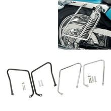 Chrome BlackSaddlebag Support Brackets Chrome For Harley Sportster XL 883 1200 2004-2016 15 motorcycle chrome seat brackets spring mount kit for harley sportster xl1200 xl883c r l 2004 2014 c 5