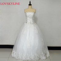 2016 New Bandage Tube Top Crystal Lace Sweetheart Luxury Wedding Dress 2016 Bridal Dress Gown Vestido