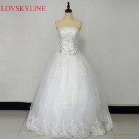 2016 New Bandage Tube Top Crystal Lace Sweetheart Luxury Wedding Dress 2016 Bridal Dress Gown Vestido