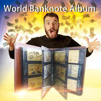 Classic Banknotes Album Leather Photo Album Souvenir&Collection