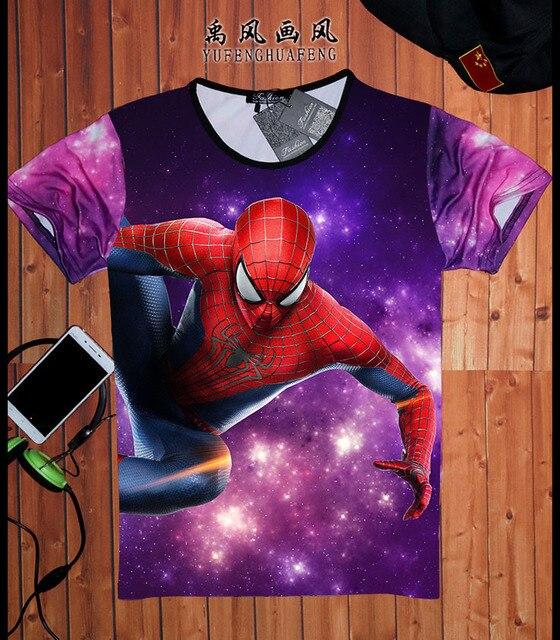 db7450344 Spider-man Logo Print T-shirt Men Black Superhero Fashion T Shirt Spiderman  Tee Top Teenage Boy Tshirt The Avengers Clothing