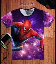 Spider-man Logo Print T-shirt Men Black Superhero Fashion T Shirt Spiderman Tee Top Teenage Boy Tshirt The Avengers Clothing