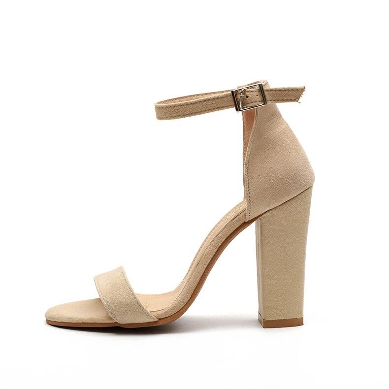 HTB14eh8biYrK1Rjy0Fdq6ACvVXav Women Sandals Ankle Strap Summer Shoes Woman High Heels Sandals Plus Size 43 Chaussures Femme Open Toe Women Summer Sandals