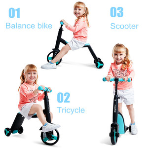 3 in 1 Kids Kick Scooter Kickboard+ Tricycle + Balance bike Child Ride On Toy Boy Girl Scooter Adjustable Toddler Birthday Gift(China)