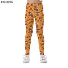 64897c36d Domi Ketty girls leggings print girl sorcerer bat kids casual fitness high  waist leggings Halloween Party children cartoon pants