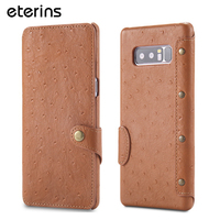 ETERINS Genuine Leather Case For Samsung Note 8 Case Oil Wax Cowhide For Samsung Galaxy Note