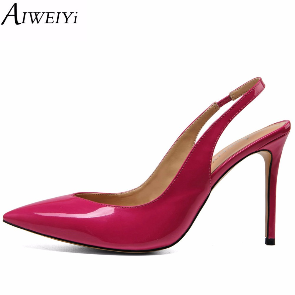 AIWEIYi 2017 Summer Fashion Lady Shoes Sexy Women Pumps Pointed Toe Slingback Slip On Thin High Heels Wedding Shoes Woman spring summer bowknot hollow women pumps fashion sexy high heels slip on pointed toe thin heel ladies wedding party shoes