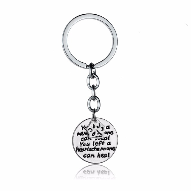 Dog Pet Paws Keychain You Left A Memory No One Can Steal Keyring Car Bags  Cell Phone Keyfob Women Animals Lovers Xmas Party Gift c566857cac