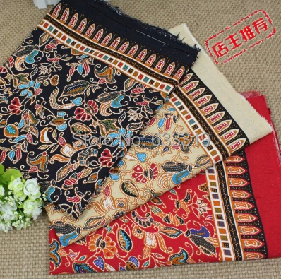 style europen et amricain calicot coton lin tissu ethnique style donot se fanent ractive teinture de tissu - Colorant Tissu