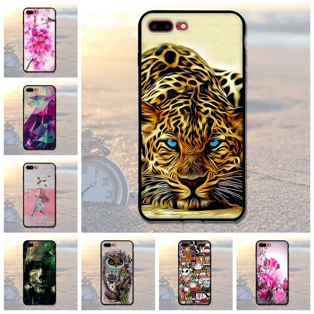 Luxury Case For iPhone 7 Plus Cover 3D Relief Soft TPU Case For iphone7Plus 7 Plus 5.5Silicone Cover Coque For iphone 7+ Bags