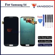 100% Nuevo Original S4 i9505 LCD para Samsung Galaxy S4 Pantalla LCD Táctil Digitalizador Reemplazo Del Conjunto Del Marco Envío Gratis
