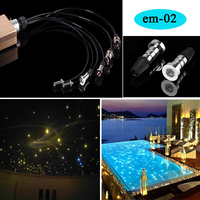 Waterproof led ceiling star sauna fiber optic light kits with remote control