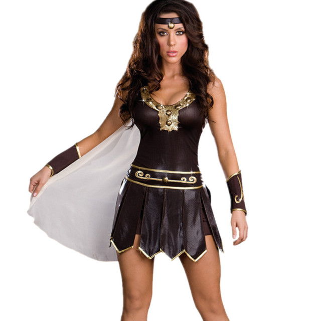 Halloween Carnival Ancient Roman Greece Greek Female Soldier Warrior Costumes Spartan Xena Gladiator Sexy Costume for  sc 1 st  AliExpress.com & Halloween Carnival Ancient Roman Greece Greek Female Soldier Warrior ...