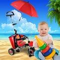 El aire lleno de rueda bebé empuje el triciclo del bebé walker 1-3 años de edad del bebé carro de bebé plegable andador rueda inflable niño caminador