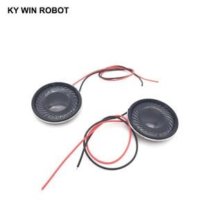 Image 5 - 2pcs/lot New Ultra thin speaker 8 ohms 1 watt 1W 8R speaker Diameter 28MM 2.8CM thickness 5MM with wire length 13CM