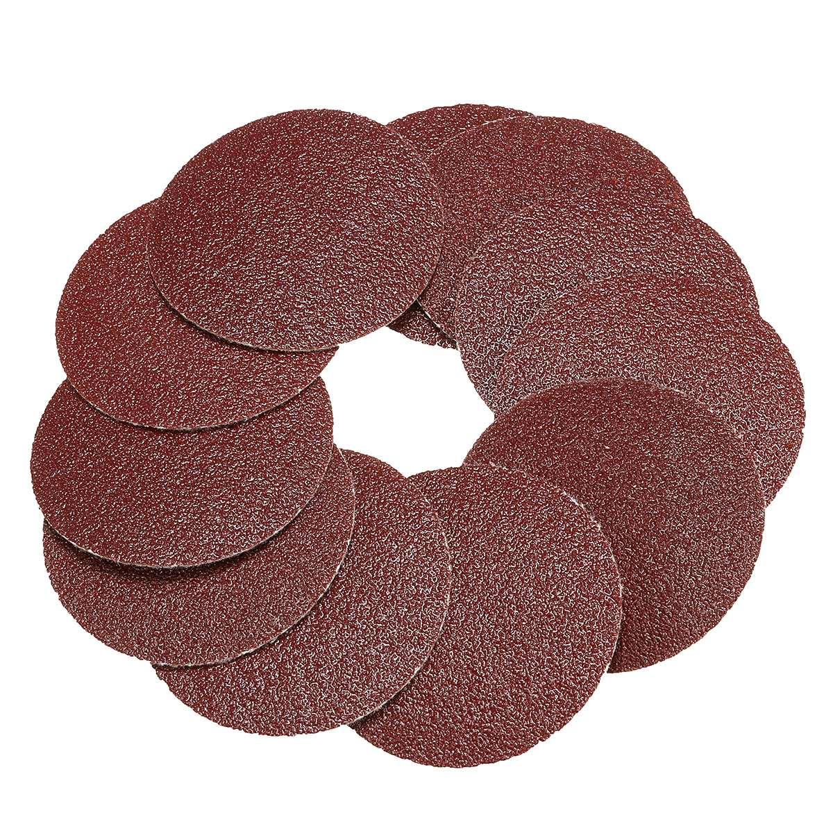 10pcs/set 50mm Round Sanding Discs Sandpaper Grits 80 120 240 400 600 800-3000 Best Promotion