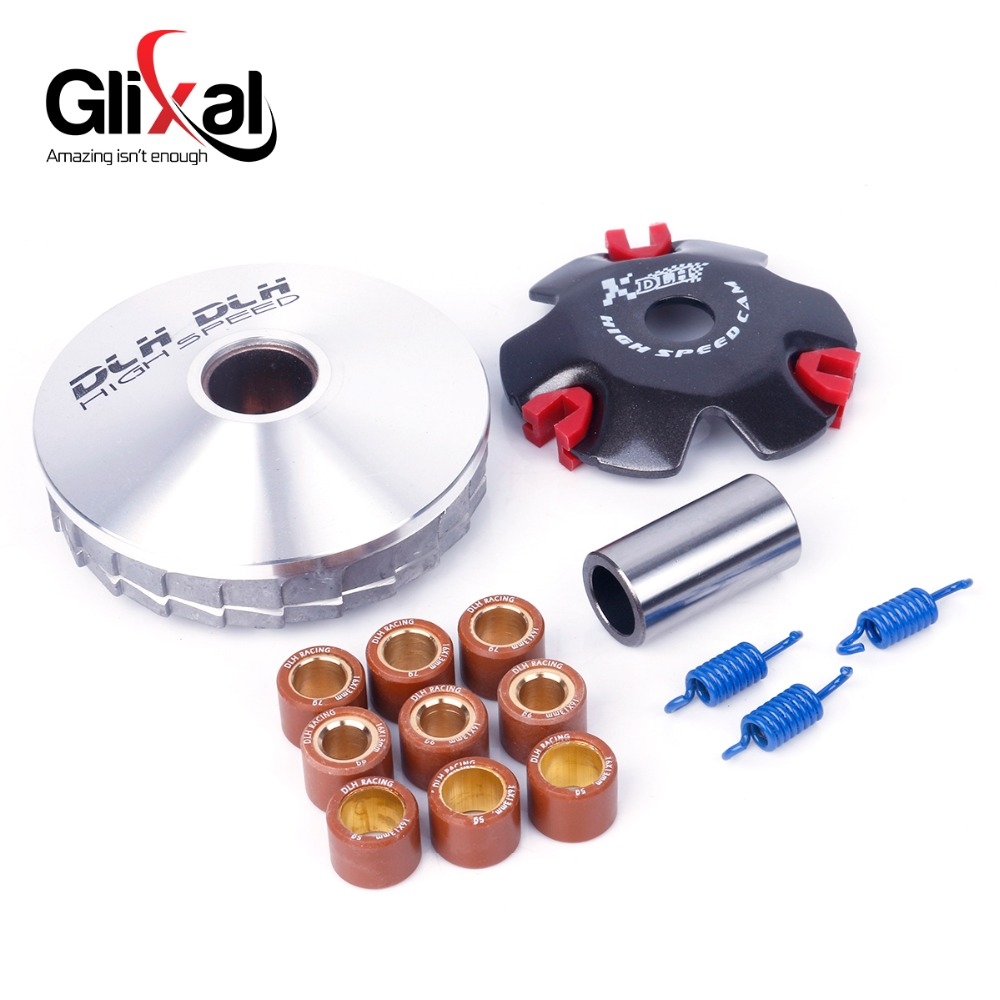 US $7 79 22% OFF|High Performance DLH Variator Kit with Roller Weights  Drive Pulley for GY6 50cc 139QMB 139QMA Dio 50cc Scooter Moped ATV on