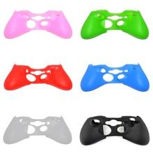 Для силиконовой втулки Xbox360 для ручного цветного покрытия кожи Мягкий чехол Защита Игры геймпад беспроводной контроллер Силикон